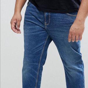 ASOS size 46-30 men's slim jeans in dark wash